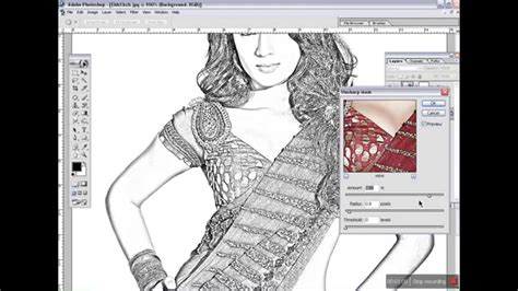 drawing in photoshop how to convert image into line drawing with photoshop