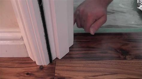 How to undercut a door frame   Tutorial   YouTube