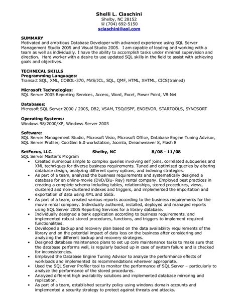 pl sql developer resume jobsxs