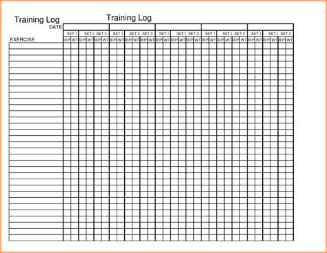 workout log template printable exercise log jpg sales