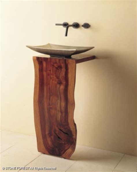 slab sink stone forest l slab pedestal modern bathroom vanities