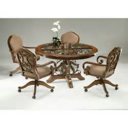 Caster Chairs Dining Set Pastel Furniture 5 Dining Table Set With Caster Chairs At Hayneedle