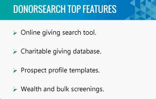 Top 5 Higher Education Fundraising Software For Universities Donorsearch Donor Research Profile Template
