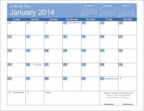 Editable Calendar 2014 Template by An Easy To Edit 2014 Calendar Template For Excel