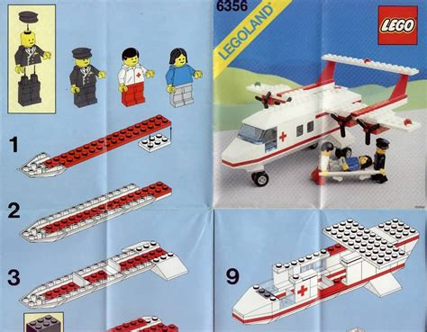 lego airplane tutorial rescue lego rescue plane instructions 6356 rescue