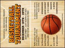 basketball tournament program template sporting event invitations tickets invitation printing