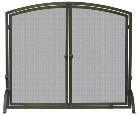 Bronze Screen Door by 39 Single Panel Bronze Finish Screen With Doors