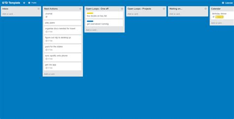 Getting Things Done Templates by Getting Things Done With Trello