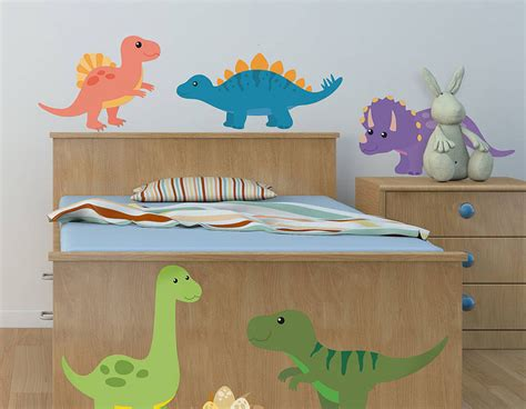 childrens wall stickers uk children s dinosaur wall sticker set contemporary wall