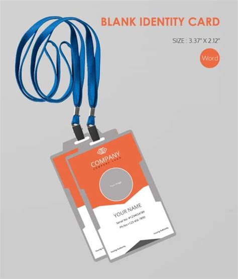 conference id card template 30 blank id card templates free word psd eps formats