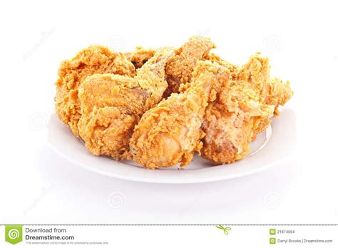 A Free Plate Of Crispy Fried Chicken Stock Photo Image Of Gourmet Lunch 21874094