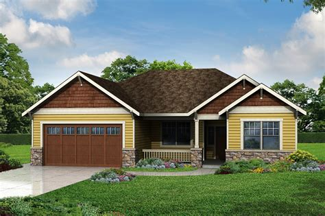 new cottage plan has craftsman style touches associated