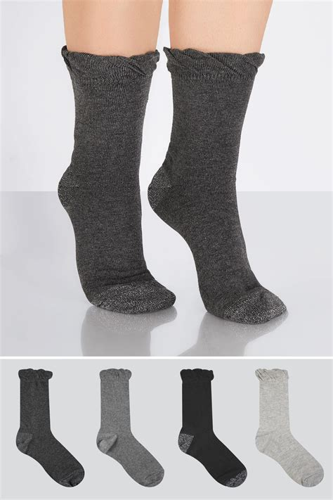 Gap Vertical Black Grey T3010 4 pack black grey socks with glitter heel 4 7 8 11