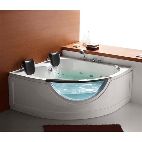 two person whirlpool bathtubs steam planet mg015 59 in two person corner whirlpool tub