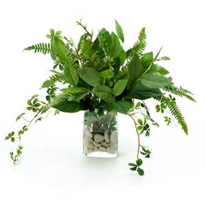 Fake Water For Vase Waterlook 174 Silk Bay Leaf Foliage Ferns And Willow In A