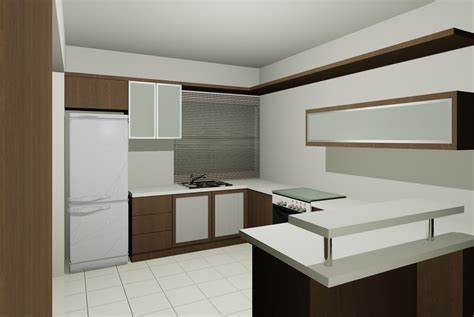 dry kitchen design kitchen renovation at bandar botanic kech design