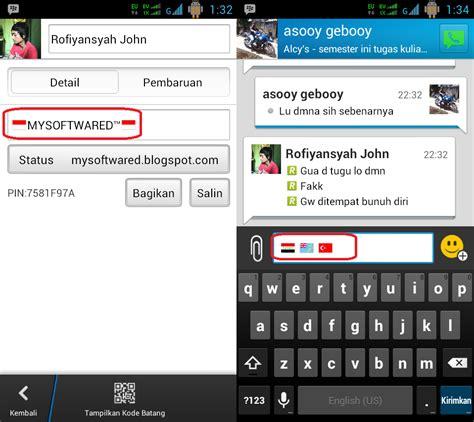 cara memberi wallpaper pada chat bbm cara membuat icon bendera di status dan chat bbm android