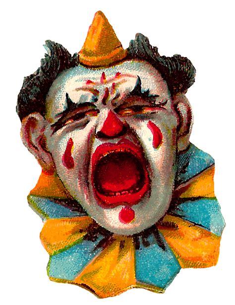 clown clipart antique images vintage clip circus clowns