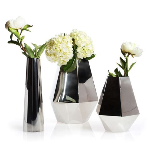Small Vases With Flowers by Hex Flower Vase Small