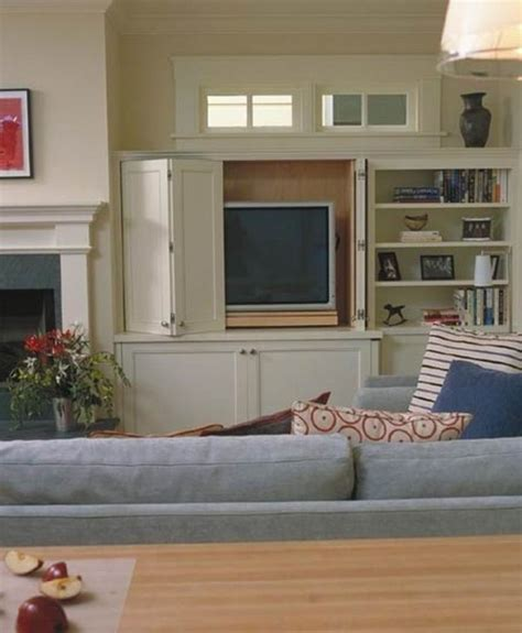 Tv Cabinet With Doors To Hide Tv Storage Ideas For Living Rooms