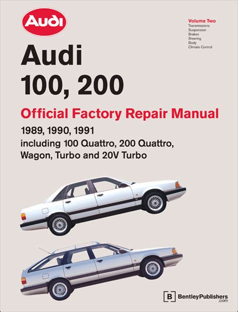 auto repair manual online 1989 audi 200 security system front cover audi repair manual audi 100 200 1989 1991 bentley publishers repair manuals