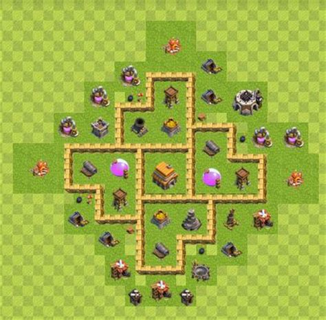clash of clans layout strategy level 5 best clash of clans town hall level 5 defense strategy