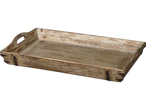 decorative serving trays uttermost abila wooden tray ut19725