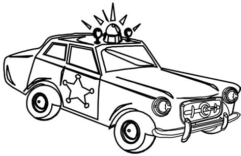 free coloring pages of patrol car