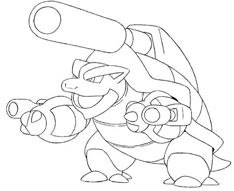pokemon coloring pages of blastoise pokemon coloring pages
