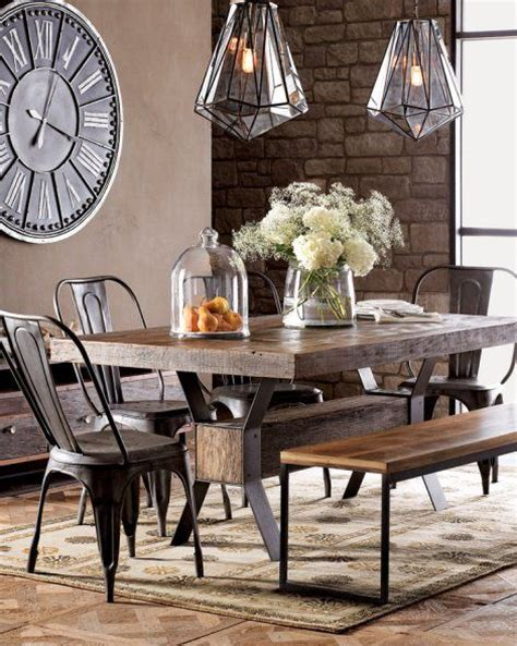 Industrial Dining Room Chairs Best 25 Industrial Dining Rooms Ideas On Pinterest Industrial Style Dining Table Industrial