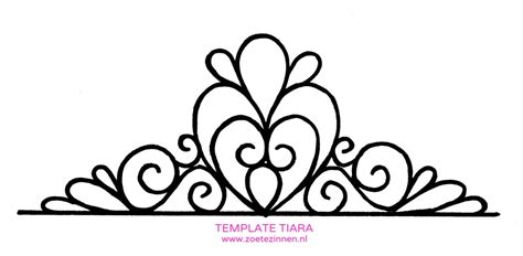 fondant princess crown template