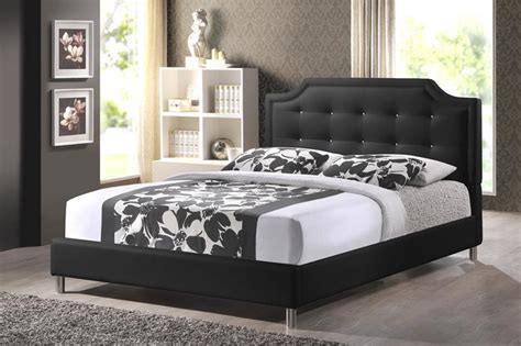 black upholstered headboard king baxton studio bbt6376 black king carlotta black modern bed