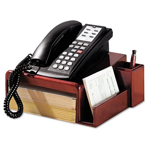 Rol1734646 Office Rolodex Wood Tones Phone Center Desk Stand Phone Stand For Desk