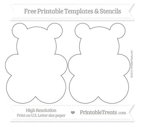 209 Best Bears Printable Images On Pinterest Printable Cutting Board Templates