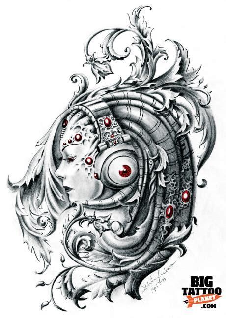 biomechanical tattoo flash designs flash art supplement 198 biomechanical tattoo big