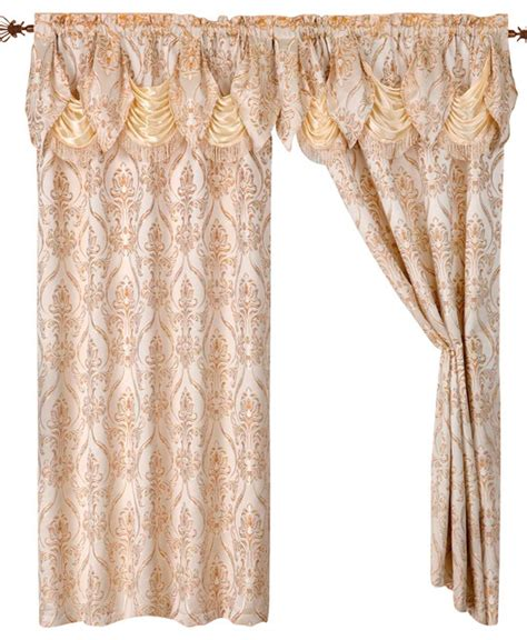 curtain with attached valance penelope curtain panels with attached austrian valance