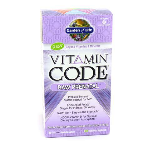 Garden Of Prenatal Vitamins Vitamin Code Prenatal Vitamin Code Prenatal By Garden Of 180 Capsules
