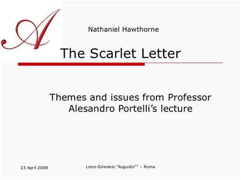 4 major themes of the scarlet letter themes in the scarlet letter the scarlet letter analysis