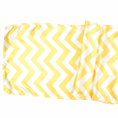 satin table runner chevron yellow