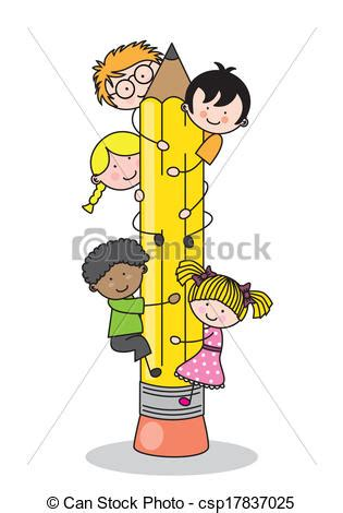 Free Small House Plans by Vector Illustration Of Children Climbing Up A Pencil