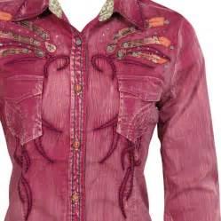 roar women s long sleeve bird of paradise western shirt