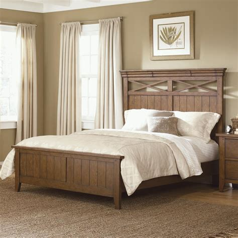 country style beds hearthstone country style queen panel bed by liberty