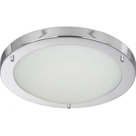 Chrome And Opal Glass Flush Fitting Bathroom Ceiling Light Ip44 Searchlight Electric 10633cc Bathroom Ceiling Light Buy At Lightplan