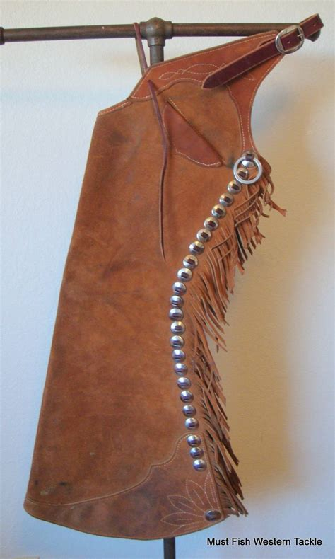 Handmade Cowboy Chaps - used handmade clint gregory marked western cowboy step in