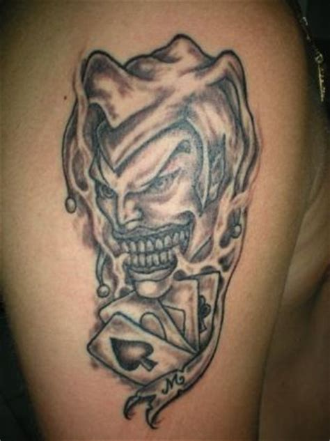joker and card image tattoo tattoo from itattooz