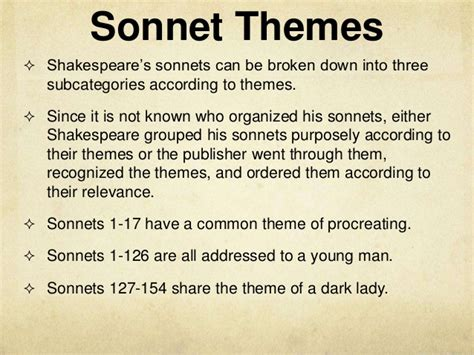 love themes in hamlet sonnets