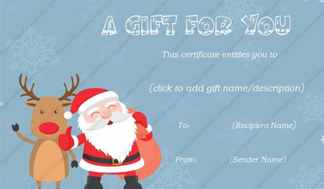 gift from santa gift template get certificate templates