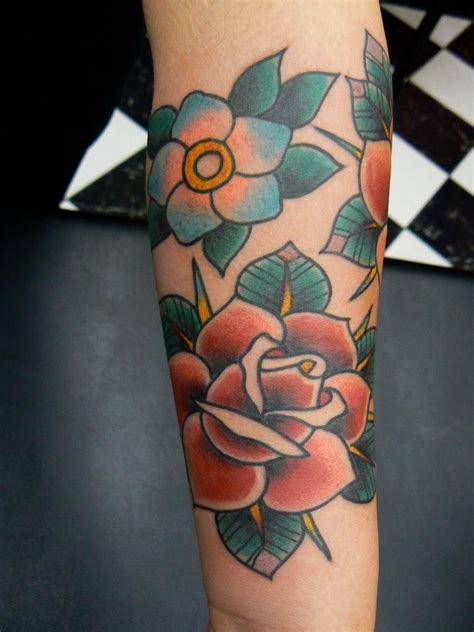 tattoo old school genova fresh old school tattoo roses flowers by robert aalbers