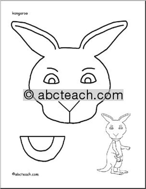paper bag puppet animals kangaroo abcteach