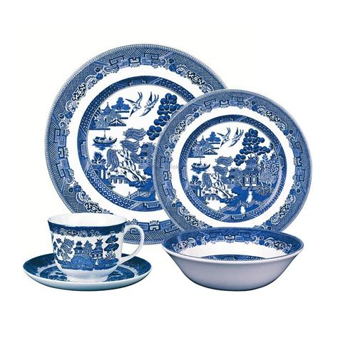 blue pattern dinnerware johnson brothers blue willow dinner sets tableking